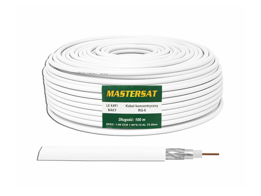 Kabel koncentryczny RG6 CCS Mastersat