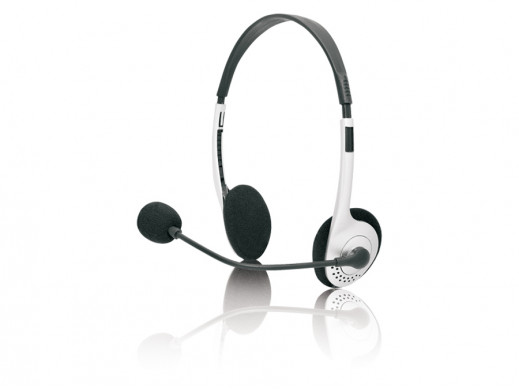Słuchawki z mikrofonem nauszne TRS-100M Amra Tracer