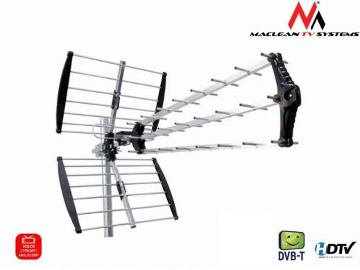 Antena TV DVB-T zewnętrzna Maclean MCTV-975A Black wzmacniacz