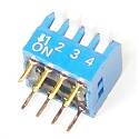 Przełącznik  DIP-4 switch 4PIN kątowy