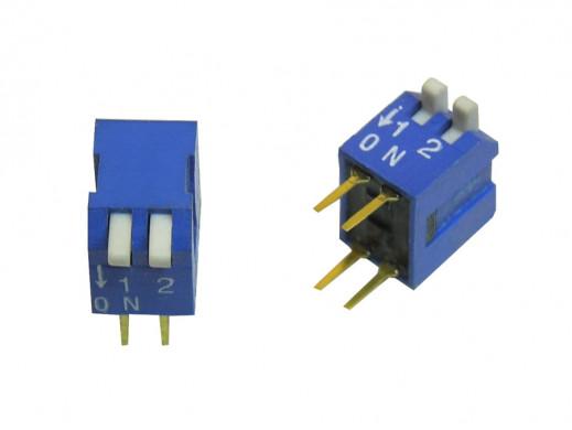 Przełącznik  DIP switch 2 tory kątowy