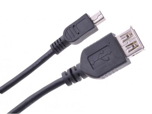 Przewód miniUSB 1m gniazdo USB