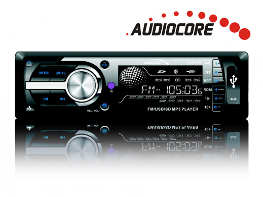 Radioodtwarzacz Audiocore AC9400B MP3/WMA/USB/SD panel, iso