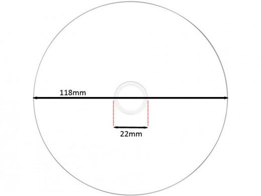 Płyta BD-R PLATINUM x4 25GB bez opakowania