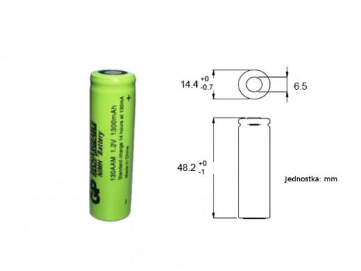 Akumulator 130AAM-B 3,6V z...