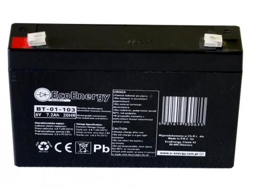 Akumulator żelowy 6V 7.2Ah AGM EcoEnergy