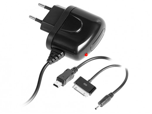 Ładowarka sieciowa Combo Iphone,micro USB 750mA, 2,1A Tracer