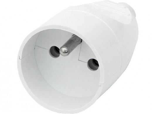 Gniazdo prądowe z uziemieniem GN-171 na kabel białe