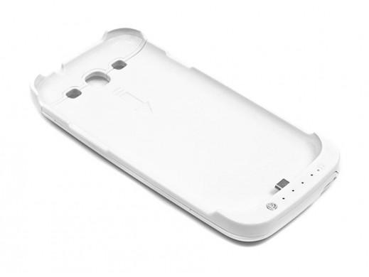 Bateria zewnętrzna 3200mAh do Samsung I9300 SIII biała