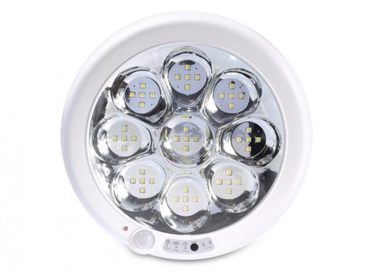 Plafon sufitowy z czujnikiem pir Led4U LED9000IRACU-WC 9W zimny biały 6000K-6500K awaryjne oświetlenie ok 1h