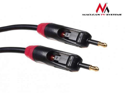 Przewód optyczny Toslink T-T Jack-Jack 2m Maclean MCTV-644     polybag