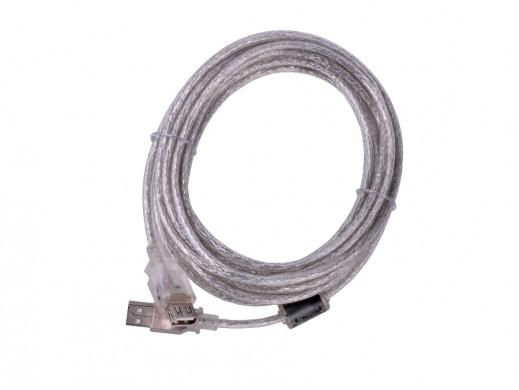 Kabel USB 2.0  Az -Am przedłużacz 5m ekran+filtr