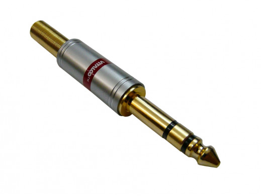Wtyk jack 6,3mm stereo JW778 chrome 7mm Vitalco