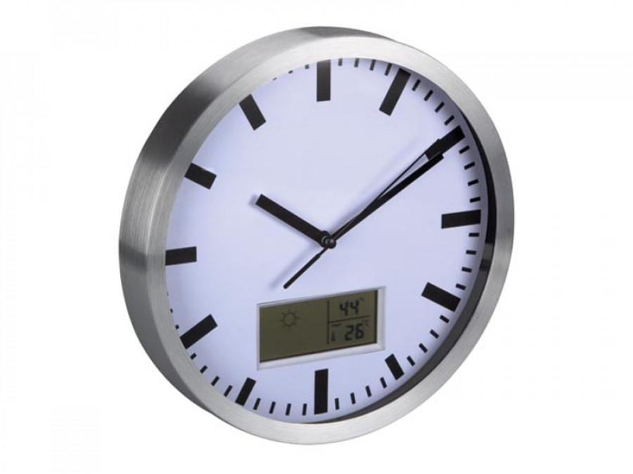 Zegar ścienny z termometrem...