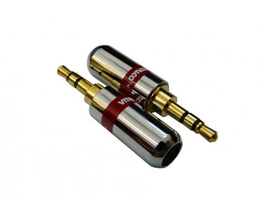 Wtyk jack 3,5mm JW480 stereo złoty chromowany do iphone Vitalco