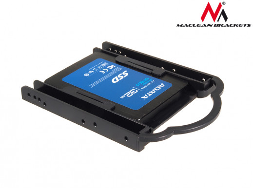 "Adapter redukcja HDD/SSD sanki szyna 3,5"" na 2,5"" Maclean MC-654 kolor czarny"