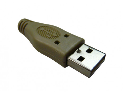 Wtyk USB typ A z osłonką