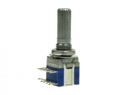 Przełącznik potencjom obrot impulsowy KH10 4 pozycje oś fi6x20mm