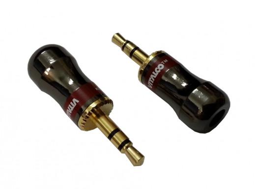 Wtyk 3,5mm jack stereo J425 chrome Tenebis 5mm Vitalco