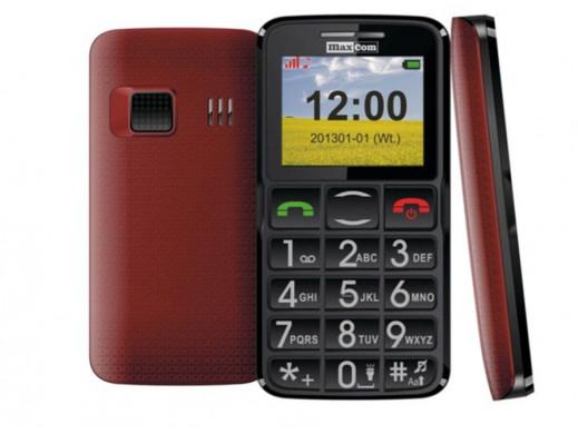 Telefon komórkowy MM432 Maxcom czerwono-czarny