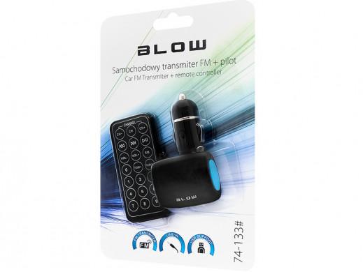 Transmiter FM USB SD/MMC z pilotem niebieski