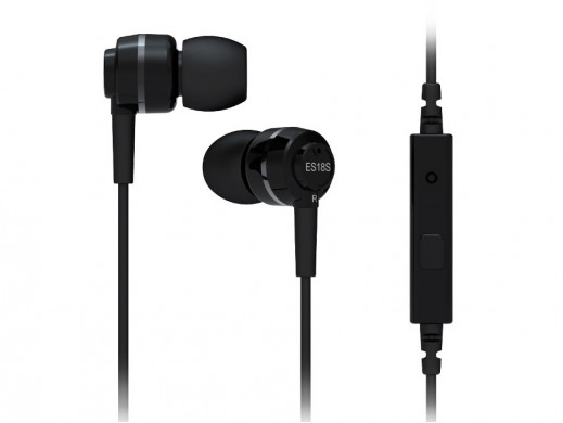 Słuchawki douszne ES18s z mikrofonem SoundMAGIC czarne