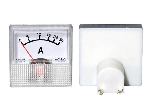 Amperomierz analogowy 30A z bocznikiem kwadrat