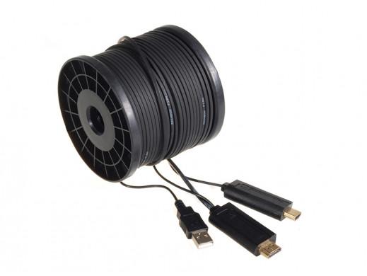 Przewód Hdmi - Hdmi Optical 305m, 16Gbps Maclean MCTV-683 FullHD 3D