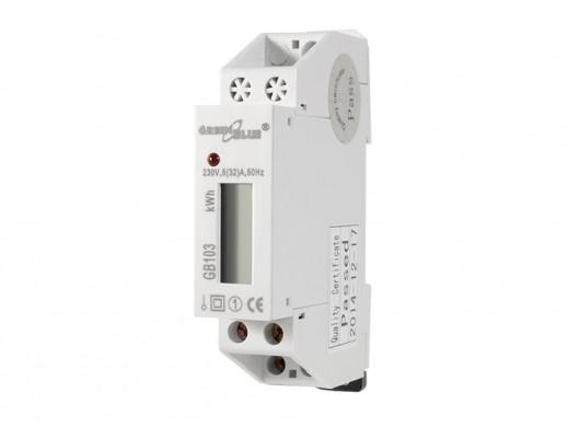 Licznik energii na szynę DIN wyświetlacz LCD GreenBlue  GB103