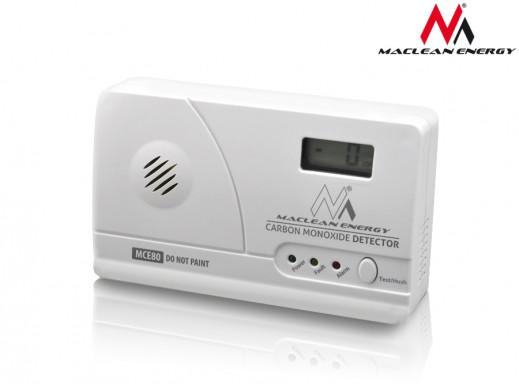 Czujnik tlenku węgla czadu, wyświetlacz LCD Maclean Energy MCE80 5 lat gwarancji