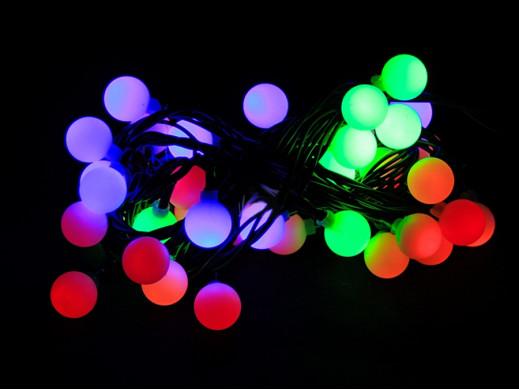 Lampki choinkowe 50 sztuk LED 3,7m Kolorowe Kulki