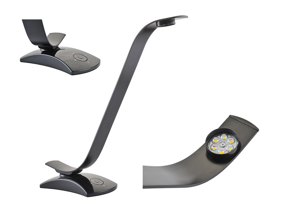 Lampa biurkowa metalowa LED 6 Watt Maclean Energy MCE110 regulacja jasności i barwy