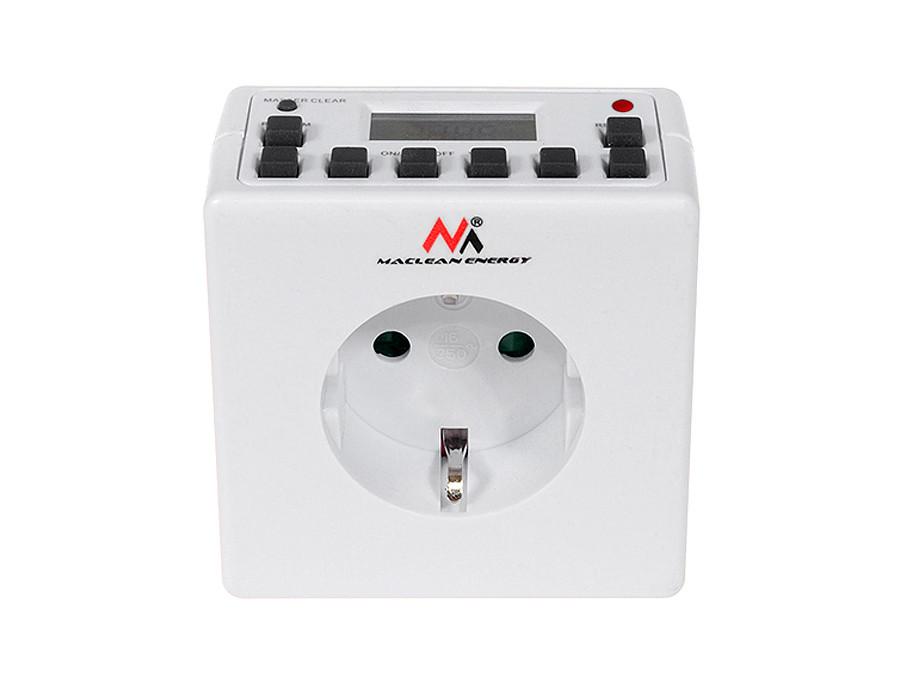 Timer cyfrowy Maclean Energy MCE30G 10 programów CD funkcja Random 3600W - Czasomierz - programator cyfrowy max 156 programów