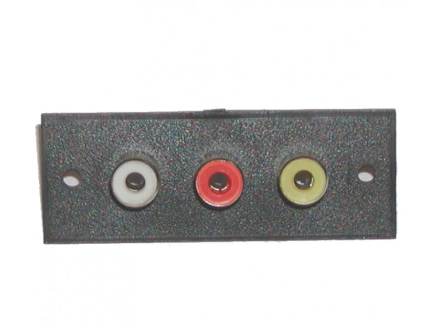 Gniazdo głośnikowe 3*cinch montażowe