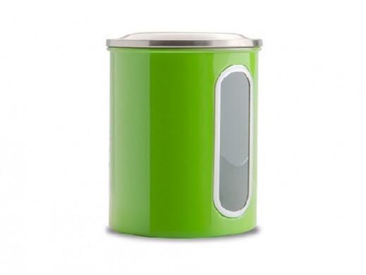 Pojemnik metalowy średni Coliber Florina zielony