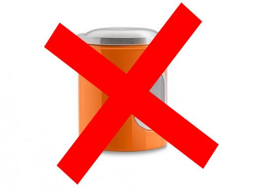 Pojemnik metalowy mały Coliber Florina pomarańczowy