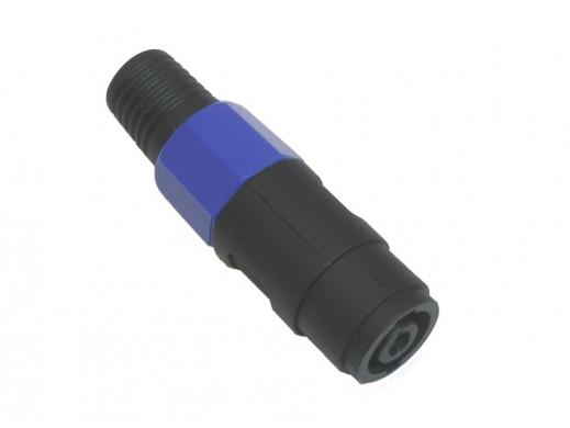 Gniazdo SPEAK-ON niebieskie na kabel