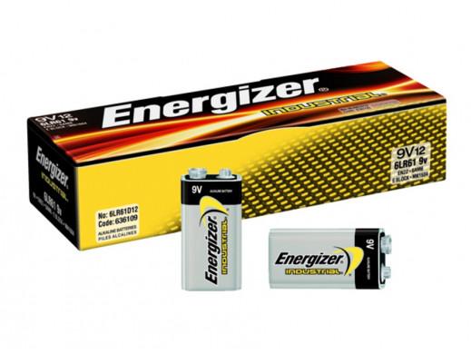 6LR61 9V 12PAK INDUSTRIAL ENERGIZER