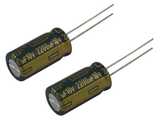 Kondensator elektrolityczny 2200uF 10V 105C low esr