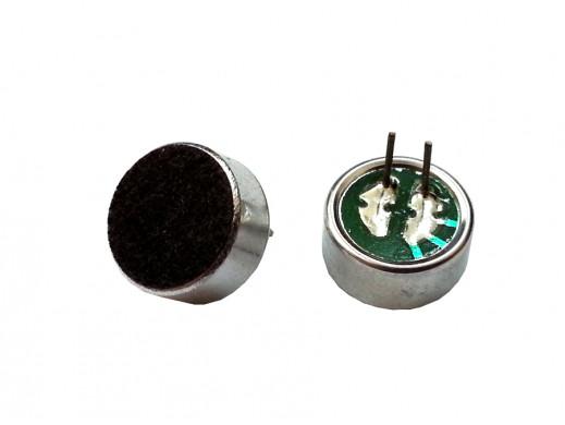 Mikrofon poj. KPCM-28B-P 9,7x5mm Pbf 4,5V