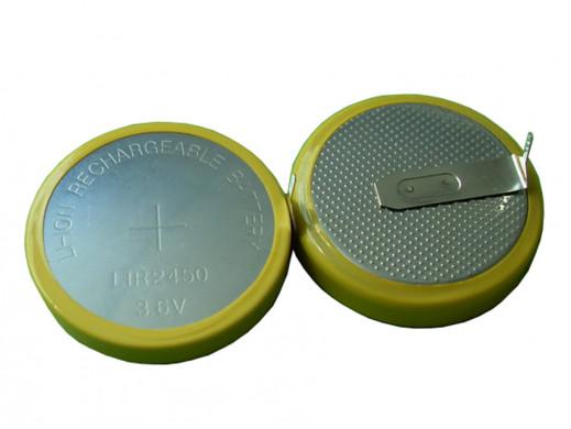 Akumulator LIR2450 120mAh 3,6V 24,5x5mm