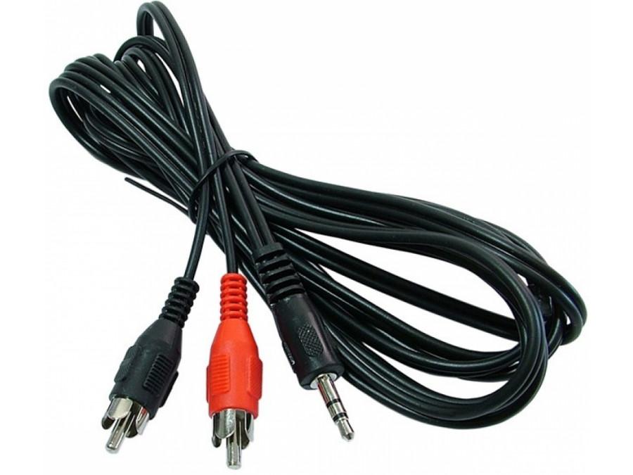 Przewód, kabel 3,5mm jack/2cinch 15m gold