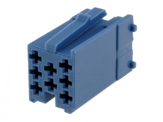 Złącze mini Iso wtyk niebieski bez pinów