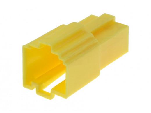 Złącze samochodowe gniazdo mini Iso żółty bez pinów