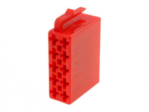 Złącze Iso wtyk 10pin czerwone bez pinów