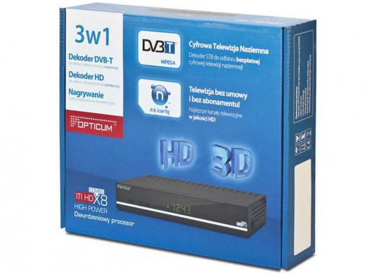 Usługa N na kartę 1 mc-y MSC Opticum HD X8 combo
