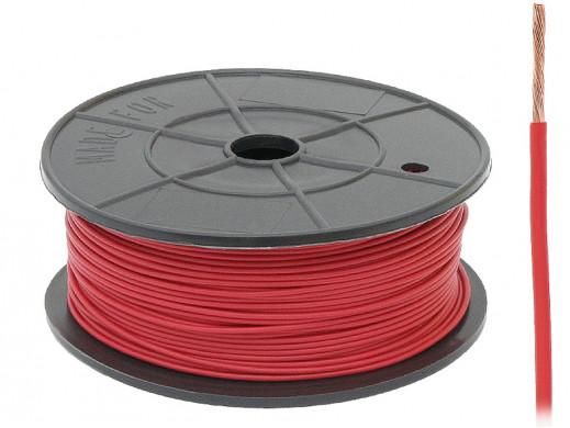 Kabel pojedyńczy 0,22mm FLRY czerwony