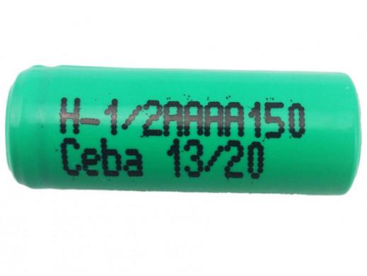 Akumulator H-1/2AAAA150 180mAh 0.2Wh NiMH 1.2V 1/2AAAA O8.1x19.5mm