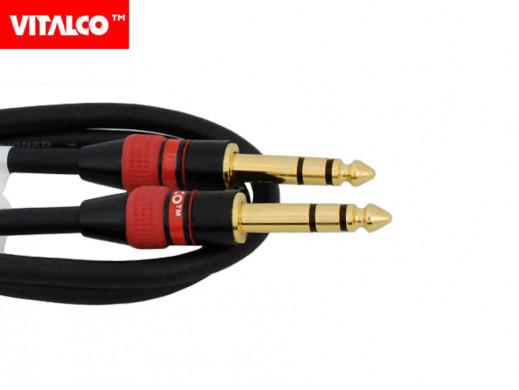 Przewód, kabel jack 6,3mm wtyk-wtyk stereo 1m MK63 Vitalco