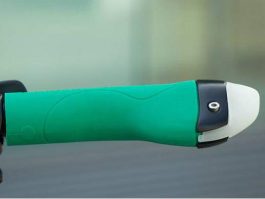 Chwyt rowerowy 3w1 kierunkowskaz lampa zielony